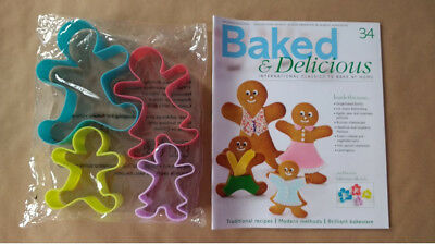 Baked & Delicious Magazine Issue 34 Gingerbread People Cutters Eaglemoss