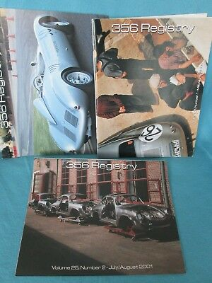 356 Registry Porsche Lot of 3**2001 March/April, May/June, July/Aug**