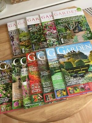 Gardens Illustrated & The English Garden 2016 Job Lot X 13 Magazines