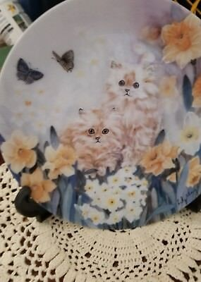 Dancing Daffodils by W.L. George *Hand Painted Kitties* Happy Mothers day!
