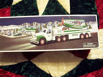 2002 Hess Toy Truck and Airplane with Lights and Operating Propeller. Used