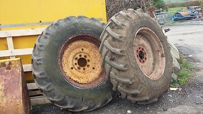 Ford 555 Digger Rear Wheels and Tyres 16.9.14/28