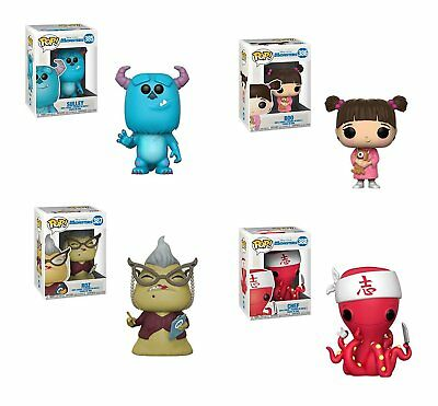 "Funko MONSTERS INC  BOO - ROZ - SULLEY - & CHEF 4PC 3.75"" POP SET MINT!!"