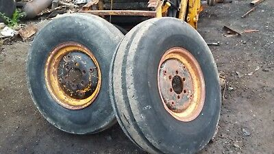A Pair of  massey ferguson 50B Front Wheels and Tyres