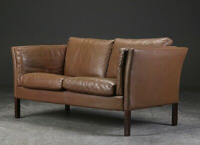 Vintage Danish Retro Leather Sofa