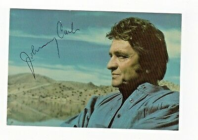 Johnny Cash Country Singer Musician Autograph Hand Signed 4 x 6 Postcard