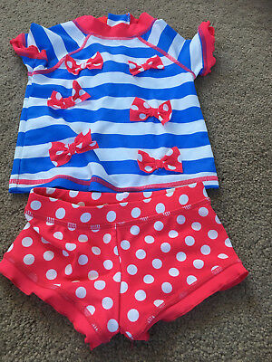 Girls Next 2 piece Swimset 6-9 months Short sleeve top and Shorts BRAND NEW