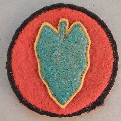 WWII World War 2 U.S. Army 24th Infantry Division Wool Used Patch No Reserve