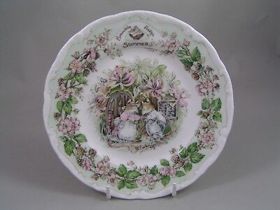 """Royal Doulton Brambly Hedge 6 1/4"""" Summer Plate."""