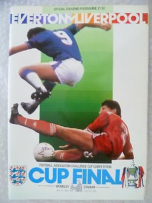 1986 FA Cup FINAL Programme EVERTON v LIVERPOOL, 10 May (Excellent Condition)