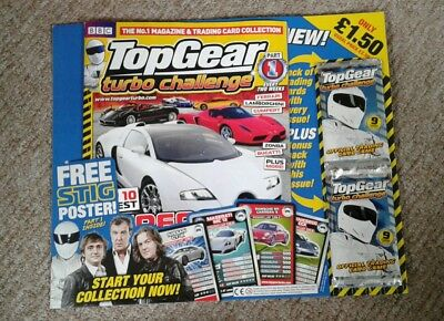 First 3 issues of Top Gear Turbo Challenge magazine
