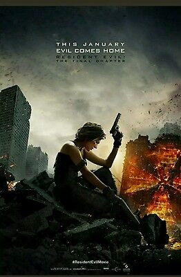 Resident Evil: The Final Chapter 27x40 DS Original  Movie poster!  NEW