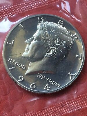 1964 Proof Set w/Accented Hair Kennedy Half Dollar & Pointed 9 Dime