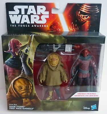 Star Wars The Force Awakens Sidon Ithano u. First Mate Quiggold