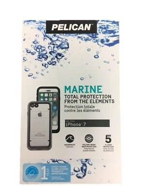 new product 830e3 e2d74 PELICAN MARINE FULL Protection Case For iPhone 8 iPhone 7 Clear Black HP22