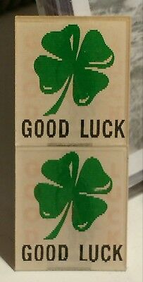 vintage VARI-VUE FLICKER OLD CROW WHISKEY advertisement 4 LEAF CLOVER GOOD LUCK