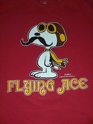 VTG Snoopy shirt flying Ace 60s Peanuts 1965 Woodstock Charles Schulz large