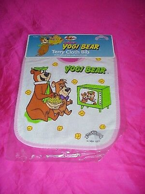 Vintage New In Package 1994 Yogi Bear Terry Cloth Bib Baby King Hanna Barbera 3