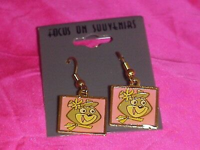 New Vintage Yogi Bear Cindy Dangle Earrings Jewelry Set Hanna Barbera