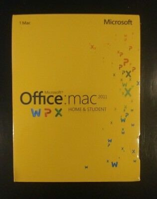 Microsoft Office for Mac Home and Student 2011 Key Card / Retail Pack