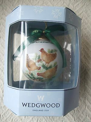 Wedgwood TWELVE 12 DAYS of CHRISTMAS ORNAMENT-THIRD DAY- THREE FRENCH HENS