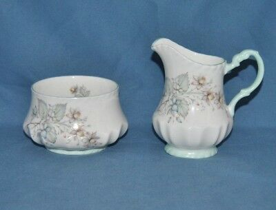 Beautiful Queens, Rosina China Co. Floral Fine China Creamer and Sugar