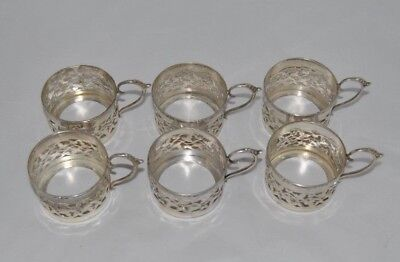 6 Very Rare Circa 1908 STERLING, CSG & CO. Espresso / Demitasse Holders