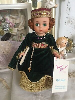 Madame Alexander Rare Queen Isabella Doll Ltd Edition 1992 Red Hair Green Eyes