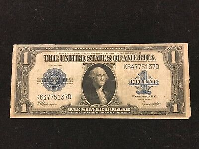 1923 $1 Silver Certificate Horse Blanket Note,Blue Seal,circulated ...