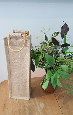 Wine Bottle bag Jute Single Bottle bag Wine Gift bag - Stock in Sydney