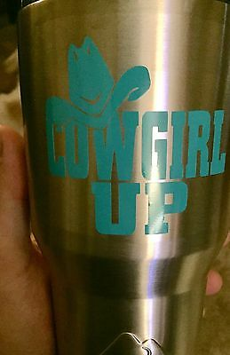 "Cowgirl Up Vinyl Decal 3""x3"""