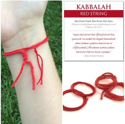 10  Authentic Kabbalah Red String Lucky Bracelet Rachel's tomb from Jerusalem