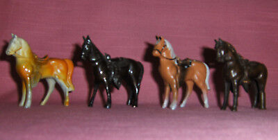 "Vintage cast horses 2 1/2"", lot of 4"