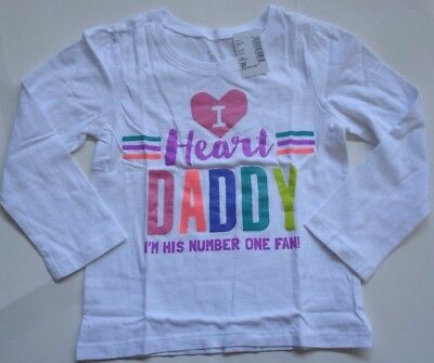 NWT I Heart Daddy I'm His Number 1 Fan Shirt Top size 4T