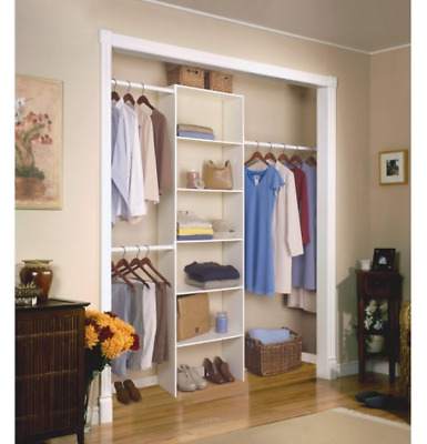 CLOSET ORGANIZER SYSTEM 2 Bedroom Beige Doors Men Pockets ...