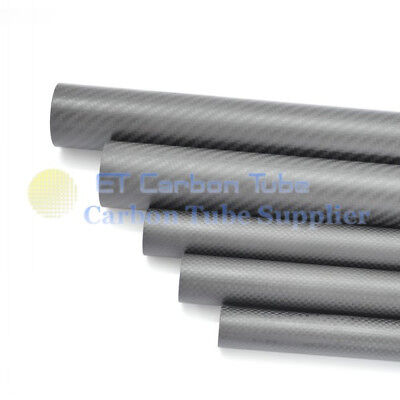 1 x  8mm x 10mm x 1000mm Long Roll Wrapped Carbon Fiber Tube Matte DIY Pipe -H