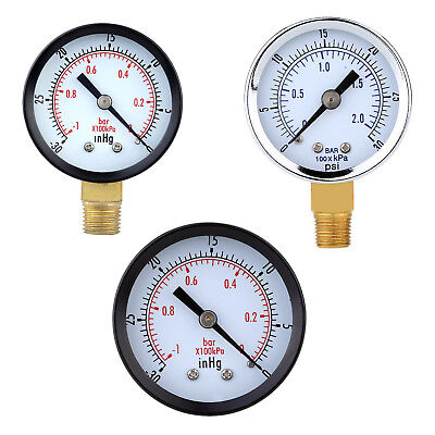 0 ~ 30 psi 0 ~ 2bar Mini Dial Manometer Kompressor Meter Hydraulikdruckmess G6M3