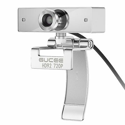 HD Webcam 720P, GUCEE HD92 Web Camera with Buit-in Microphone, USB Plug and Play