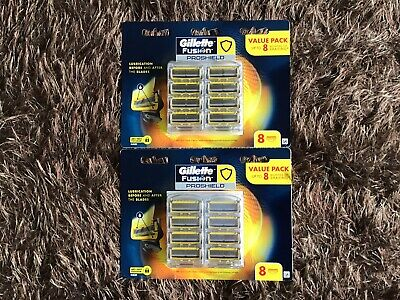 Gillette Fusion Proshield 2 Packs X 8 Cartridges ( 16 Shaving Blades )
