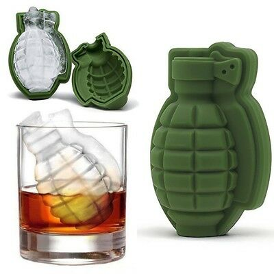 New Kitchen Grenade Shape 3D Ice Cube Mold Tray Silicone Novelty Chocolate Mould