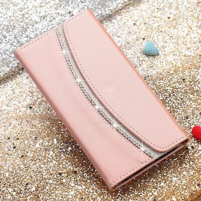 Bling Glitter Diamond Leather Wallet Flip Case Cover For iPhone 11 X 8 7 6s Plus