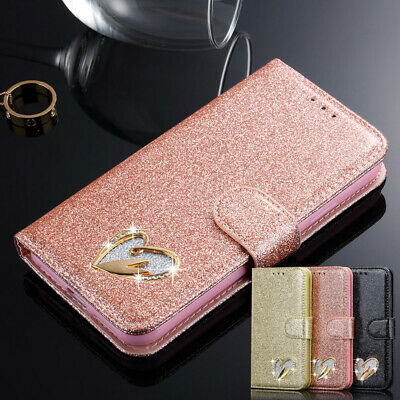 iPhone 11 Pro Max X 8 7 6s Bling Glitter Leather Flip Wallet Magnetic Case Cover