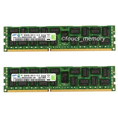 Samsung 16G 2X8GB 1333MHZ 2Rx4 1 PC3L-10600R ECC Server Registered Memory Ram