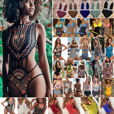 2018 Women One-Piece Swimsuit Beachwear Swimwear Push-up Monokini Bikini Bathing