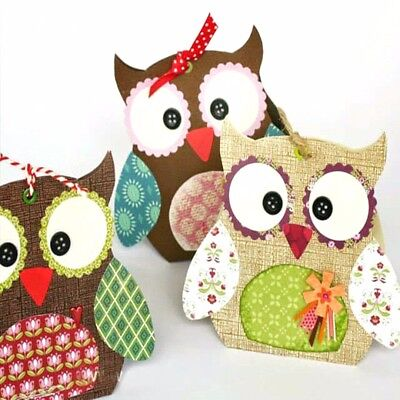 Owl Cutting Dies Stencils DIY Scrapbooking Embossing Craft Festival Gifts Box