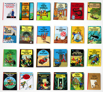 Tintin Hergé x 24 NEW hardback books complete collection FREE WORLDWIDE SHIPPING