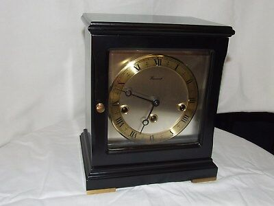 Dutch Warmink Design Black lacquered table clock,Westminster Chiming,5 hammers
