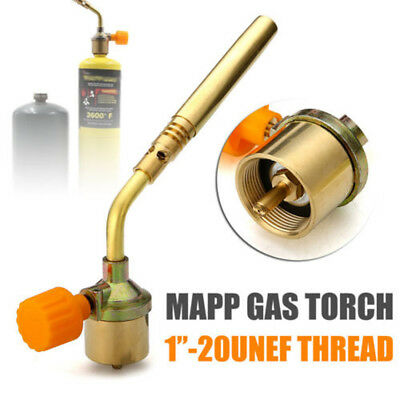 Mapp Gas Turbo Torch / Brazing Solder Propane Welding Plumbing Nozzles Safe Tool