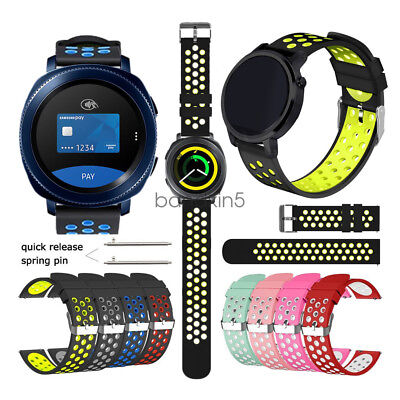 Quick Release 18mm 20mm 22mm Soft Silicone Sport Bracelet  Watch Band Strap