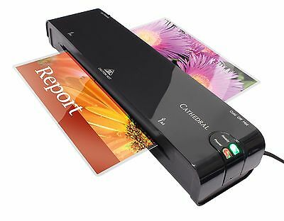 Cathedral A4 Laminator Laminating Machine + 25 Free Pouches for Home & Office